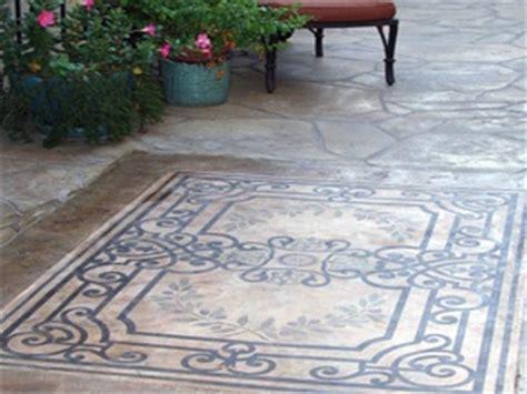 Concrete Patio Stencils by 14 Best Stenciled Concrete Patio Floors Images On