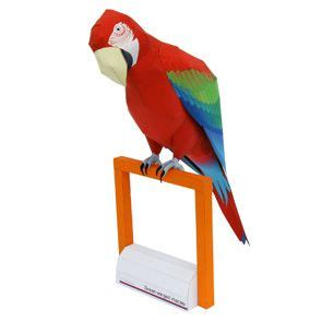 paper crafts canon green winged macaw other animals animals paper craft
