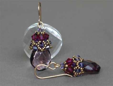 Sidonia Handmade Jewelry - sidonias handmade jewelry beaded earrings cup