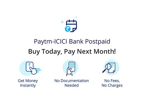 is icici bank open today apply for paytm postpaid service get rs 10000 credit
