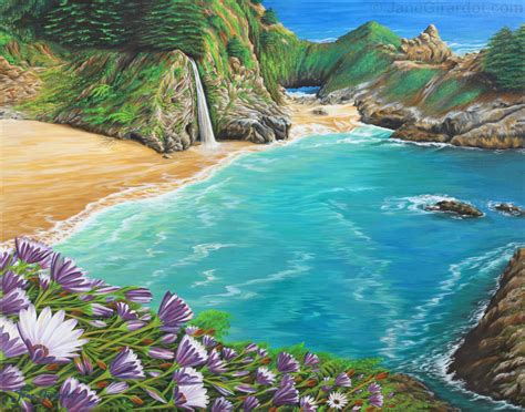paint with a twist the falls mcway falls painting by girardot