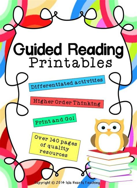 ready to go guided reading determine importance grades 3 4 books guided reading printables middle and student