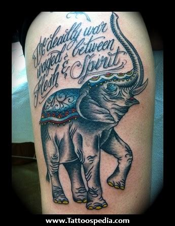 war elephant tattoo of war quotes tattoos quotesgram