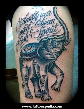 war elephant tattoo of war quotes tattoos quotesgram