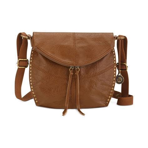 brown leather crossbody the sak silverlake leather crossbody in brown tobacco lyst
