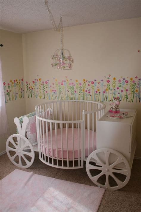Carriage Crib Baby Girls Cinderella Room And Girls Baby Cinderella Crib Set