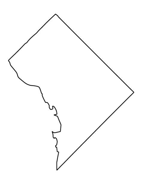 washington dc map silhouette printable washington d c template