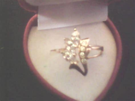 Kuning Asli Batu Kebumen putih dan kuning dengan 1 batu zircon pada cincin