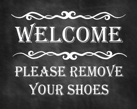 no shoes in the house sign printable welcome sign please remove your shoes print remove shoes sign printable instant download