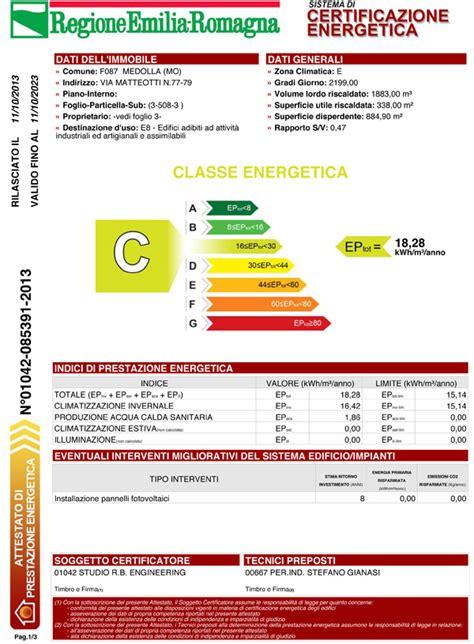 certificazione energetica capannone certificazione energetica studio rb engineering