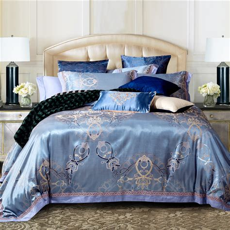silk bed sets luxury jacquard cotton silk bedding bedding set duvet