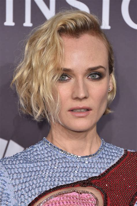 Diane Kruger Hairstyles by Diane Kruger Curled Out Bob Hairstyles Lookbook