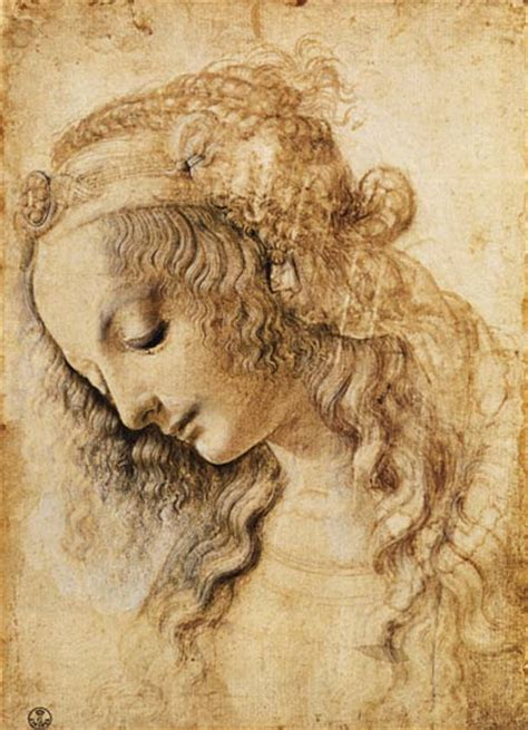 head   woman leonardo da vinci  art print  hand