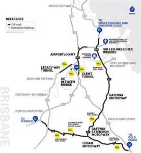 go via brisbane toll roads