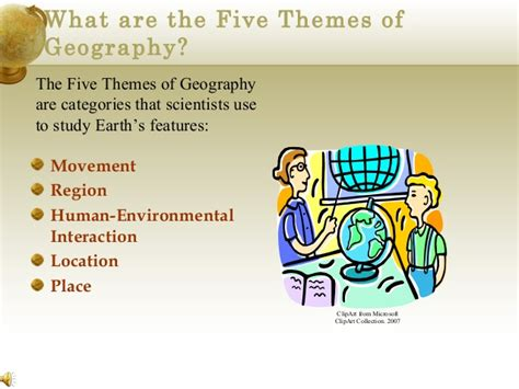 5 themes of definition five themes of geography powerpoint