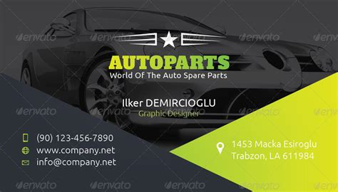 Car Service Post Card Template by Auto Services Business Card Templates By Grafilker