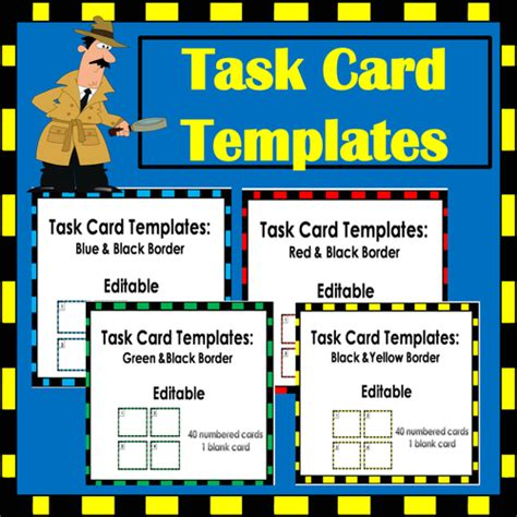templates for creating task cards windupteacher s shop teaching resources tes