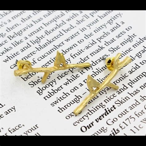 Eyo Jewelry Kesia Silver Necklace forest theme quot alight quot bird branch earrings os from