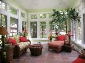 Tropical sun room interior design