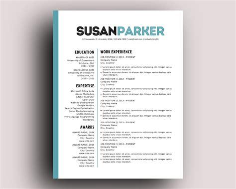 Bold Modern Resume Template Modern Resume Template Modern Resume And Resume Cover Letters Bold Resume Template