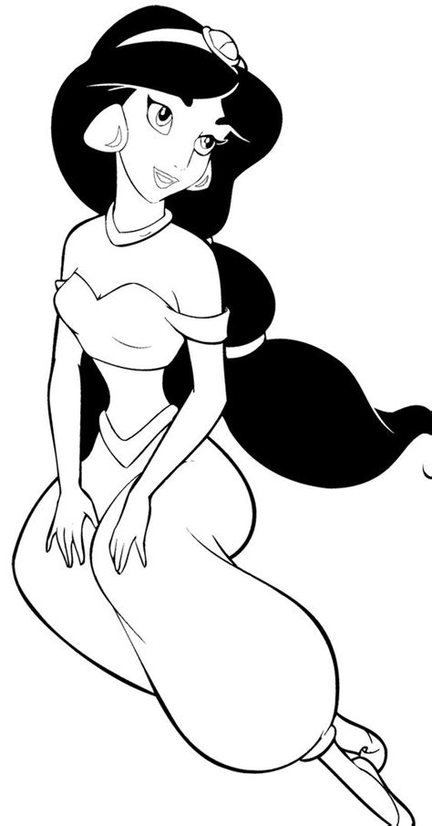 coloring pages for princess jasmine disney princess jasmine coloring page aladdin