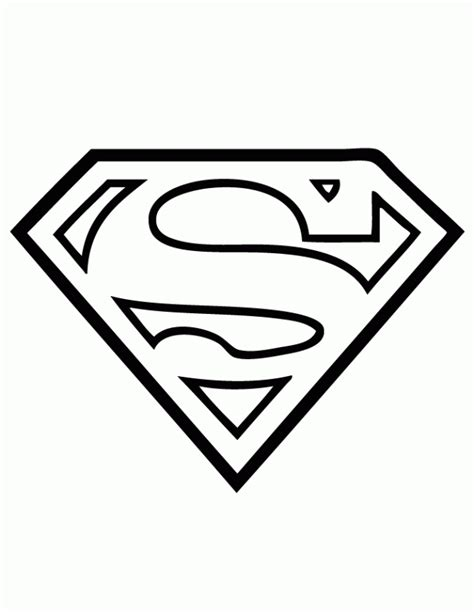 Superman Logo Coloring Pages Coloring Home Superman Coloring Pages Free