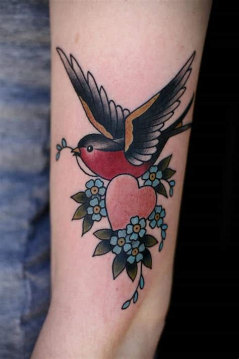 swallow bird tattoo 75 sweet and meaningful tattoos