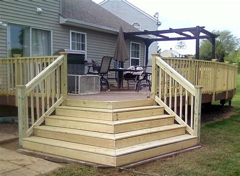 wrap around deck ideas pictures of handrail for deck stairs custom wrap around