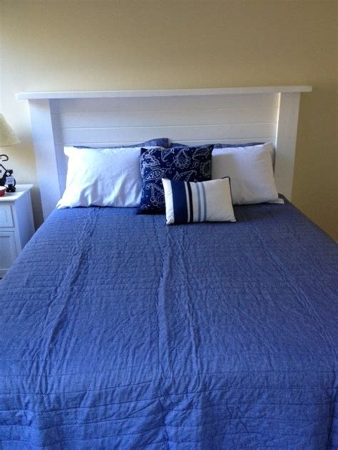 nautical headboard diy headboard in nautical room coastal bedroom pinterest