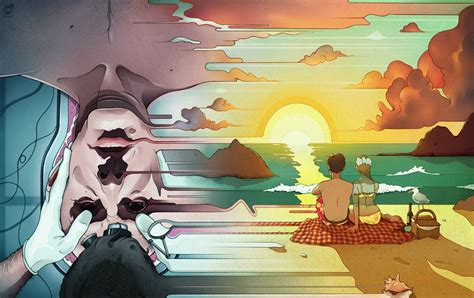 terry gilliam zero theorem review illustration for new yorker s review of zero theorem by