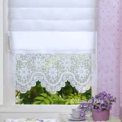 White Lace Kitchen Curtains by Tendina Con Bordure All Uncinetto Http Www Manidifata It