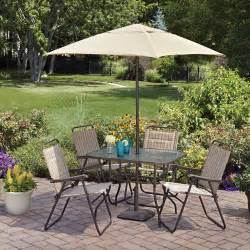 mainstays glenmeadow 6 folding patio dining set