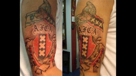 tattoo cost amsterdam afca nl 750 tattoos ajax amsterdam youtube