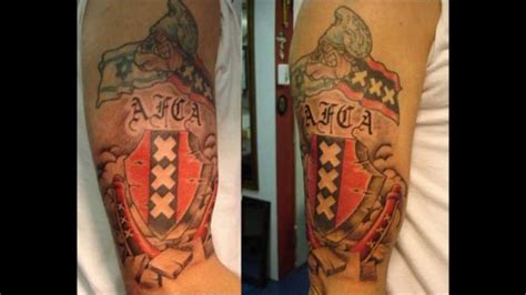tattoo prices amsterdam afca nl 750 tattoos ajax amsterdam youtube