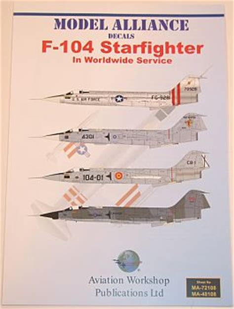 internet modeler model alliance decals 1/48 f 104