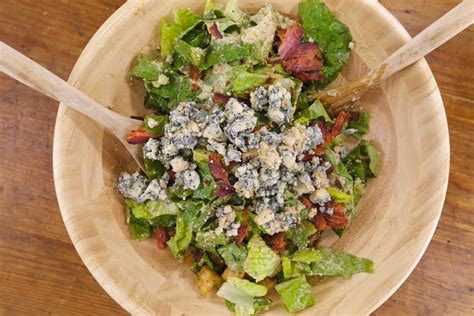 caesar salad with blue cheese and bacon recipe ina bacon and blue caesar salad rachael ray