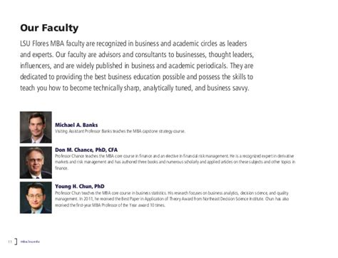 Lsus Mba Data Analytics by Time Master Of Business Administration Program At