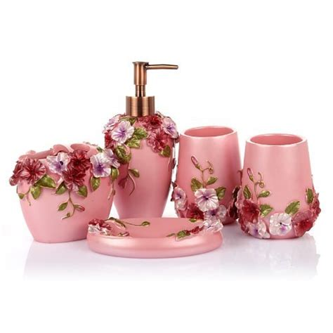 pink bathroom set popular pink bathroom decor webnuggetz com