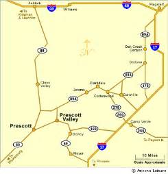 map and directions to prescott az
