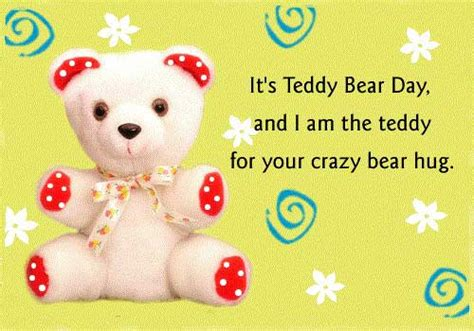 teddy bear day  quotes sayings  images freshmorningquotes
