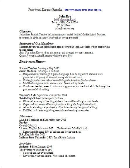 functional resume format functional resume sles exles sles free edit with word