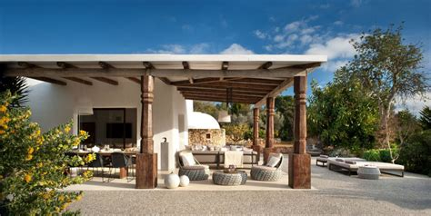 modern outdoor living spaces modern ibiza home gives coziness a luxurious look