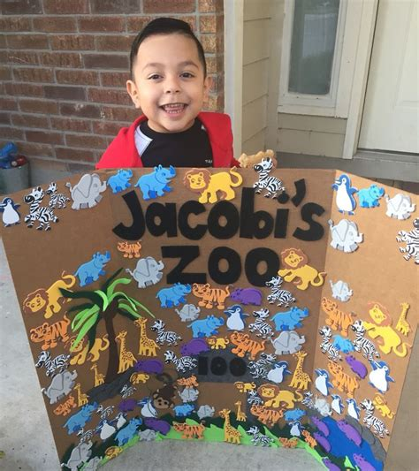 crafts for school projects 100 days of school project for boys zoo animals arts and