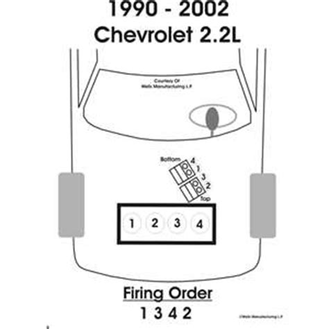 1342 firing order diagram what is the firing order on a 1995 chevy caivlier yahoo