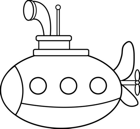 Cute Submarine Coloring Page Free Clip Art Submarine Coloring Pages