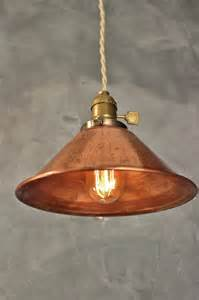 copper pendant light shade industrial pendant l w weathered copper l shade