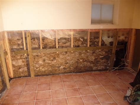 Before and After: Repairing Drywall in a Flooded Basement