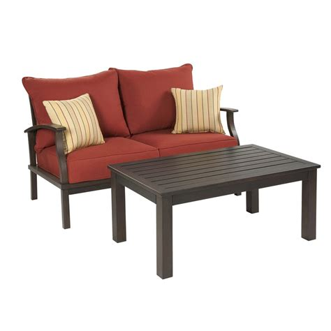 allen roth gatewood 2 outdoor loveseat and coffee