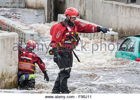 adopt trained service humberside and rescue service doing a river rescue stock photo royalty