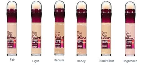 Maybelline Instant Age Rewind Shade Light maybelline instant age rewind circles treatment